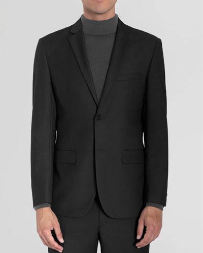 Black Two Button Suit Review